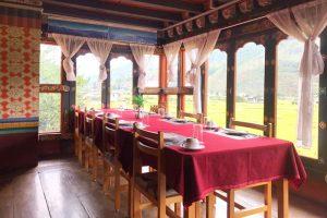 Khung cảnh tại Thrumshing La Restaurant Bhutan